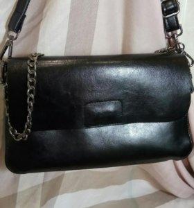 Женская сумка клатч из НАТУРАЛЬНОЙ кожи новая