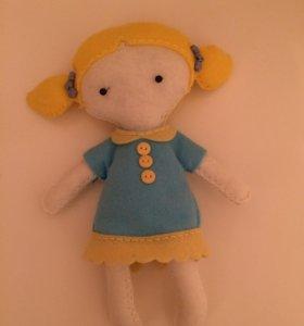 Флисовая куколка Алиса