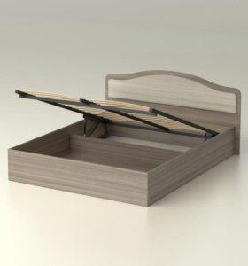 Кровать Лиана 160 с ящиком для белья ясень шимо