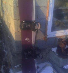 Сноуборд  с крепами