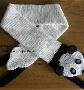 Шарф панда. Новый.ручная работа