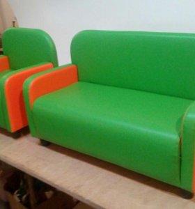Набор детский диван и два кресла в любой ткани