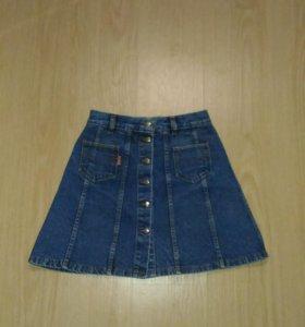 Юбка джинсовая трапеция