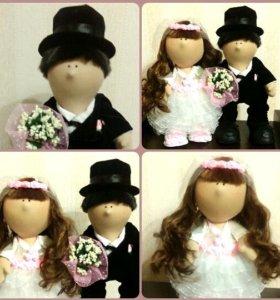 Свадебные куклы ручной работы