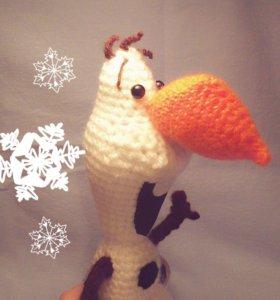Снеговичок Олаф,ручная работа