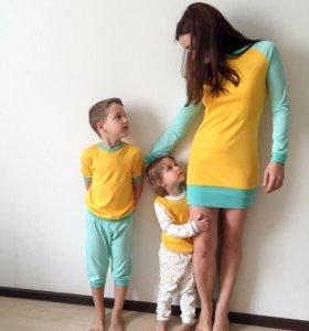 Новый Пижамный family look