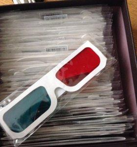 Коробка 3D очков в старом стиле