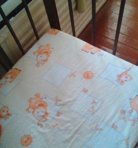 """Детская кроватка Качалов""""мишутка'"""