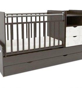 Новая детская кроватка трансформер жираф