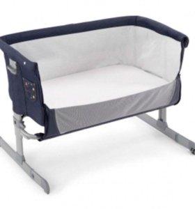 Кроватка детская Chicco next2ME denim