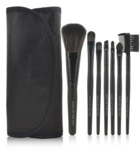 Кисти для макияжа 7 шт, цвет черный