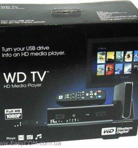 Western Digital WD TV HD Media Player в коробке