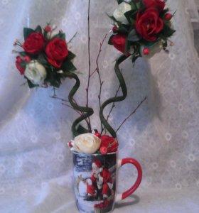 композиция с розами.