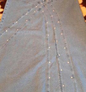 Юбка джинсовая макси
