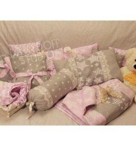 Детская постель и бортики в кроватку