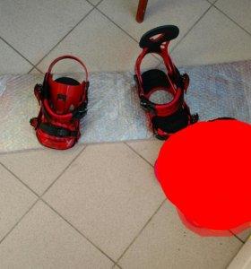 Сноуборд и крепления. Новый комплект