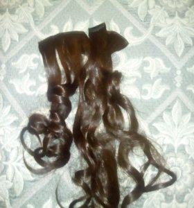 Волосы натуральные на трессах