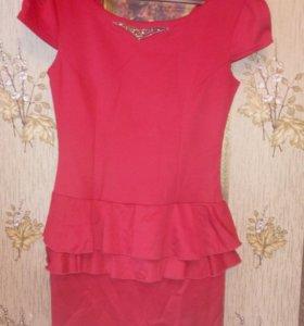 Красное платье,новое