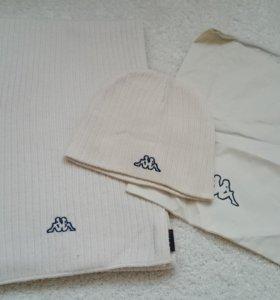 Kappa комплект шапка шарф
