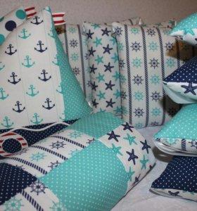 Бортики в кроватку, комплект в кроватку, конверт