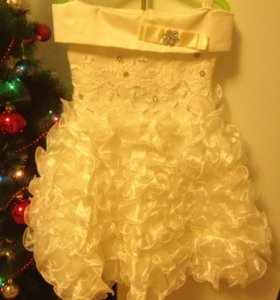 Бальное платье с подюпником