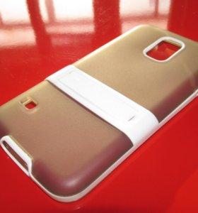Силиконовый серый чехол на Samsung Galaxy S5