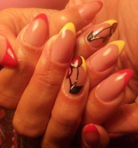 Наращивание/укрепление ногтей