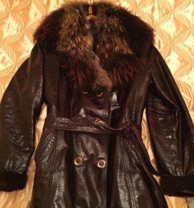 Кожаная куртка натуральная кожа, мех!!!