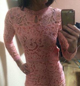 Платье новое цвет коралловый
