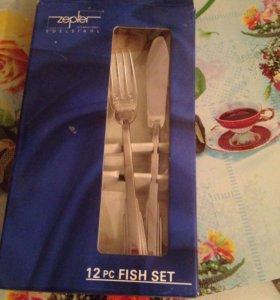 Столовый набор для рыбы.  Вилки и ножи.