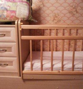 Кроватка-трансформер с маятниками от 0 до 10-12лет