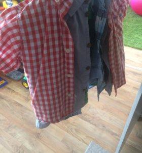 Много рубашек на выбор 98-104