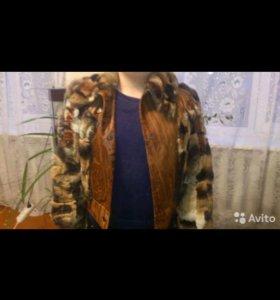 Куртка кожа с мехом шиншилы