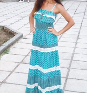 Платье сарафан длинное. Торг