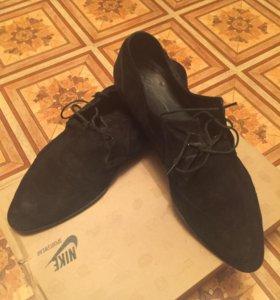 Туфли летние замшевые