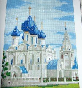 Картина в технике алмазной мозайки