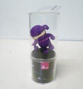 Флеш диск 4 Gb USB Bone Ninja фиолетовый