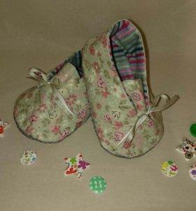 Детские текстильные ботиночки handmade
