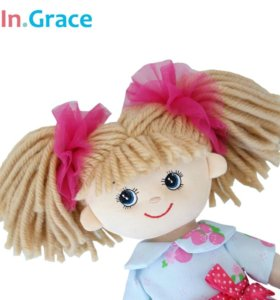 Новая куколка, мягкая - 40см + маленькая в подарок