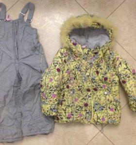 Зимний комплект для девочки рост 104