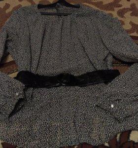 Блузка с баской 44р-р