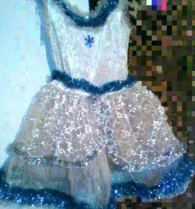 платье снежинка или снегурачка