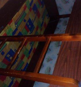 Кровать двухярусная с выдвижными ящиками