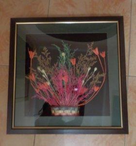 Картина искусственный гербарий
