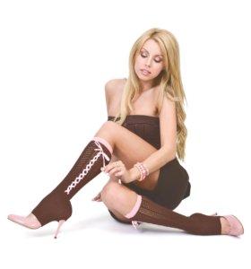 Очаровательные гетры со шнуровкой