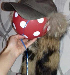 Тёплая кепка с натуральным мехом енота FinnFlare