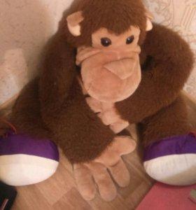 Игрушка мягкая обезьянка
