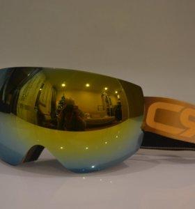 Маски для сноуборда/очки горнолыжные CGR Gold