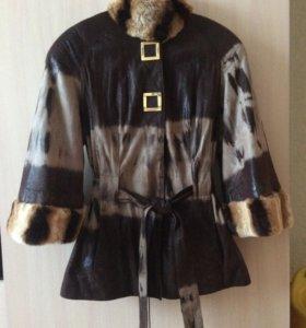 Куртка мех натуральный шиншилла
