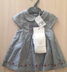 Платье+колготки Mothercare 3 мес Новое
